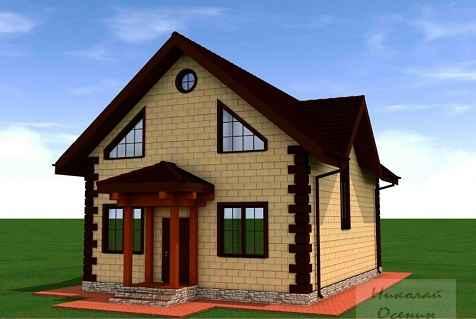 Проект дома из пеноблока