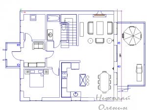 Образец планировки первого этажа