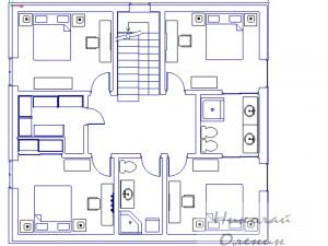 Образец планировки второго этажа