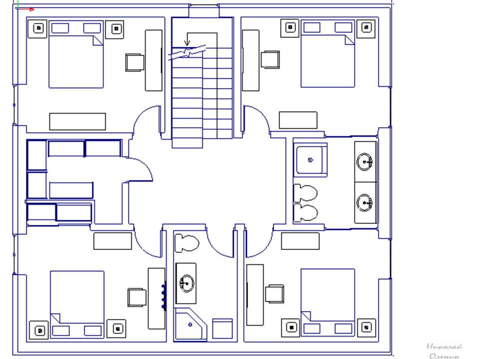 как нарисовать план второго этажа