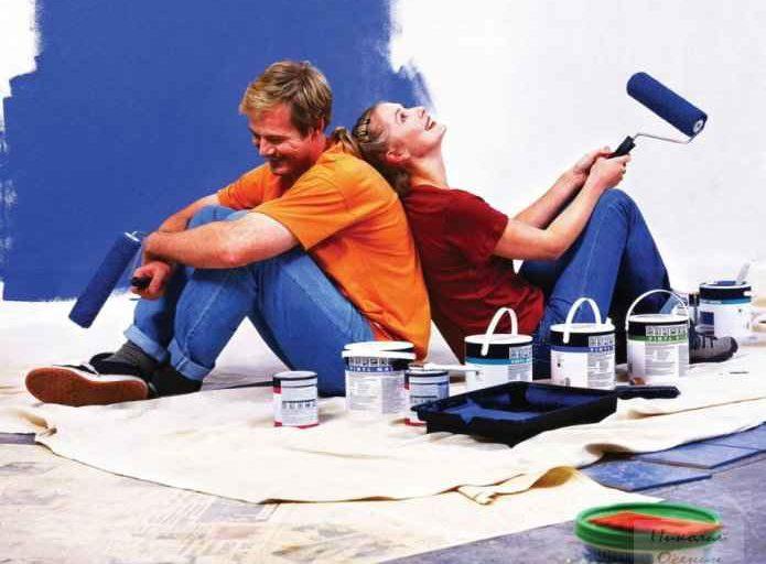 как покрасить дом