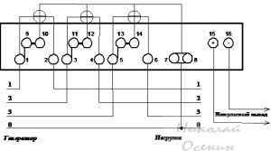Схема подключения электросчетчика Меркурий