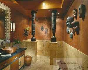 Этнический стиль ванной комнаты