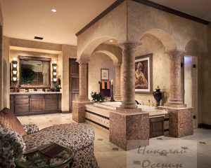Итальянский стиль ванной комнаты