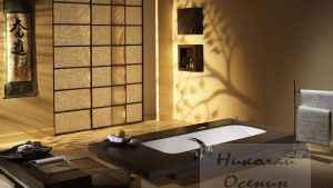 Японский стиль ванной комнаты