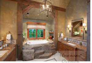 Стиль ванной комнатыКантри