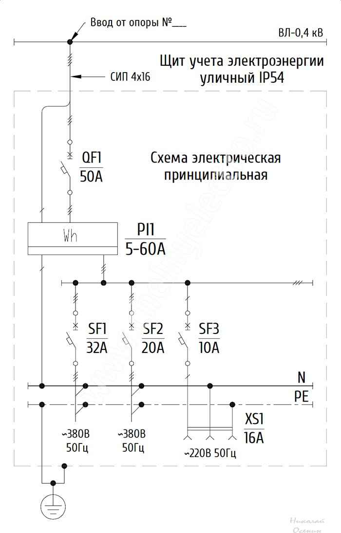 Щит учета электроэнергии 380в схема подключения6