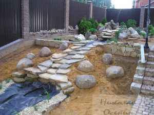Укладка камней
