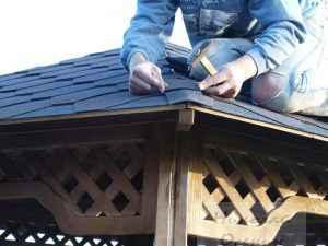 Укрытие крыши беседки