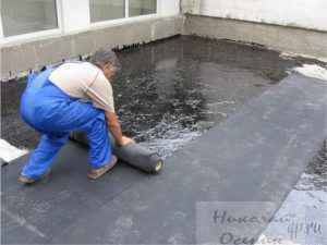 Укрытие крыши гаража