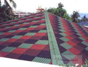 Разноцветная крыша