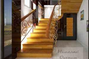 Прихожая под лестницей