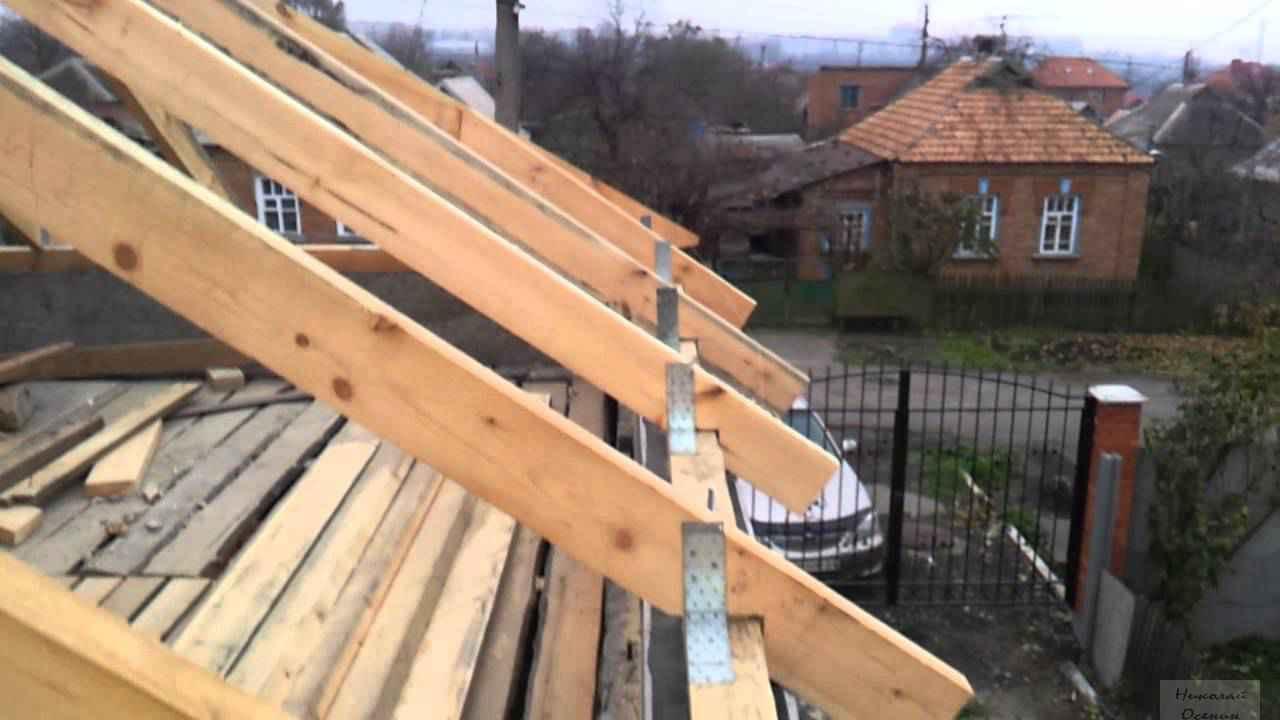Как собирается крыша с