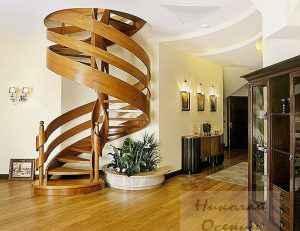 Пространство под винтовой лестницей