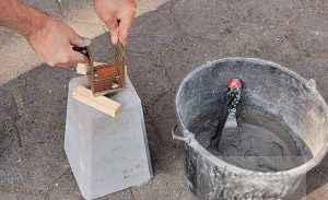 Основание бетонные блоки