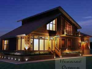 Общая подсветка дома