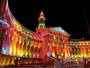 Световые картины на фасаде