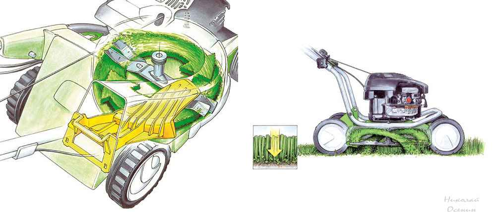 Мульчирование в газонокосилке