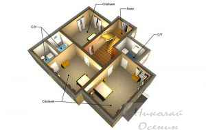 Как разместить помещения на втором этаже