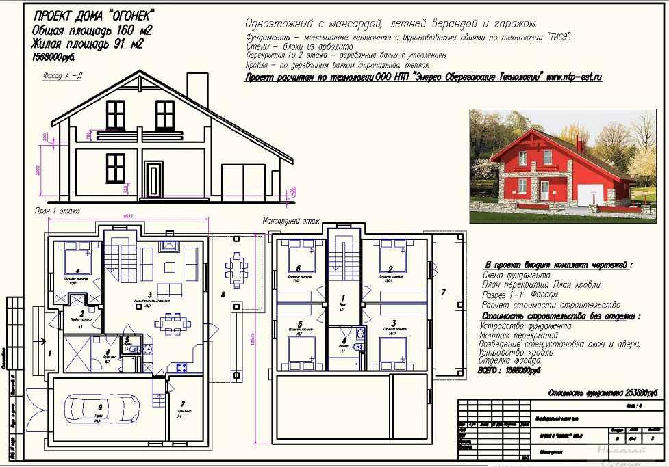 Эскиз проекта дома своими руками