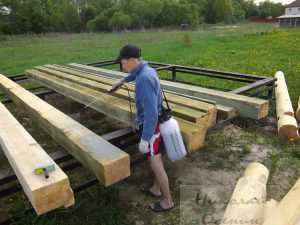 Временная защита древесины