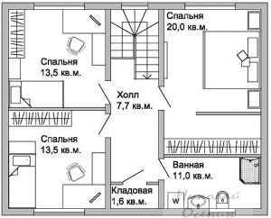 Прямоугольная форма жилых помещений