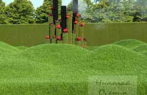 Сложный рельеф для газонокосилки