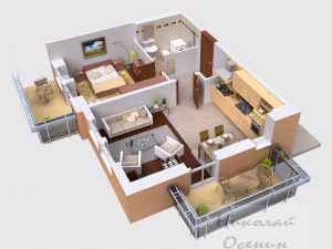 Как разместить помещения на первом этаже