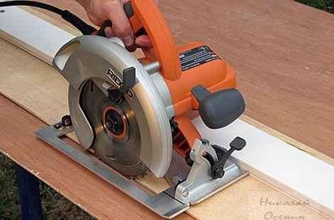 Как резать фанеру циркулярной пилой