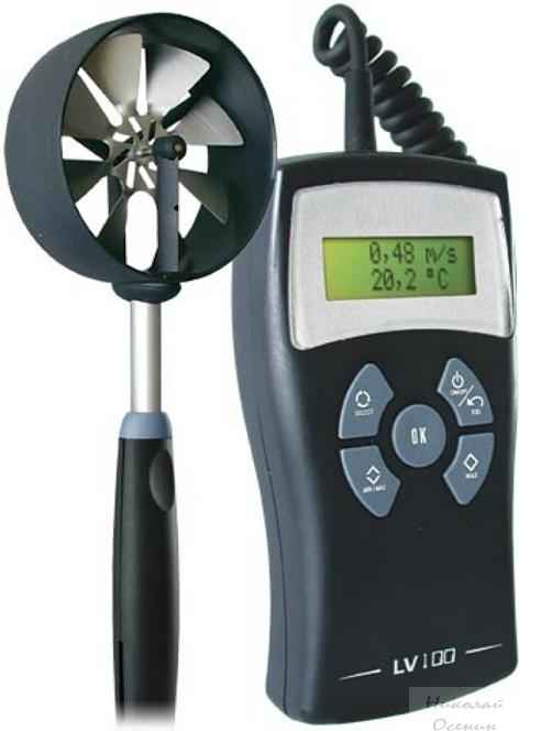 Проверка вентиляции анемометром