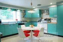 Использование нескольких цветов на кухне