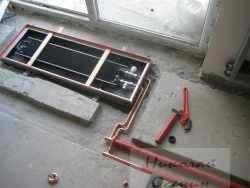 Подготовка места для внутрипольного конвектора