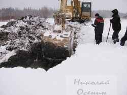 Строительство котлована зимой