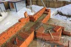 Строительство стен в зимний период