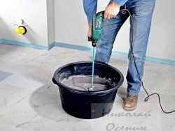 Подготовка плиточного клея