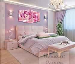фото и картины на стене маленькой комнаты
