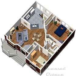 Планировка квадратного здания