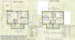 поэтажный план частного дома