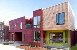 Цвет в оформлении фасада