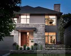Темная крыша гармоничное дополнение фасада