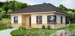 Семейный дом с угловым окном