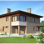 Проект двухэтажного дома 235 м2 с террасой