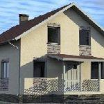 Проект блочного дома с мансардой 9×9