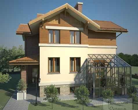 Проект двухэтажного дома 12x13