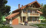 Проект бревенчатого дома с мансардой