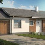 Проект дома с гаражом 17×9