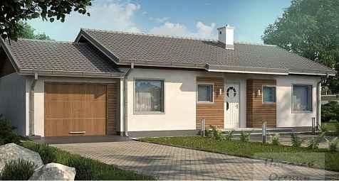 Проект дома с гаражом 17x9