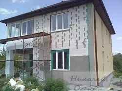 Штукатурка дома из пеноблоков