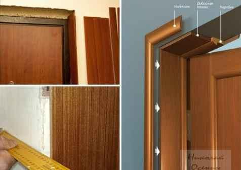 Монтаж добора к коробке межкомнатной двери без паза