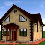 Проект дома из пеноблока 145,7 кв.м.